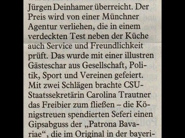 Auszeichnung für den Neuen Haunstetter Hof
